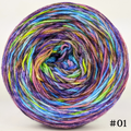 Knitcircus Yarns: Horse of a Different Color 100g Abstract, Flying Trapeze, choose your cake, ready to ship yarn