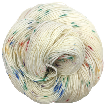 Knitcircus Yarns: Over the Rainbow 100g Speckled Handpaint skein, Trampoline, ready to ship yarn