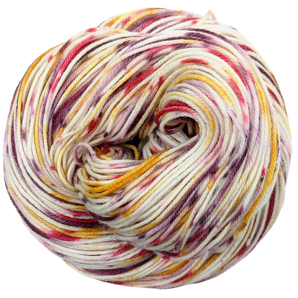 Knitcircus Yarns: Leaf Pile Leap 100g Speckled Handpaint skein, Greatest of Ease, ready to ship yarn