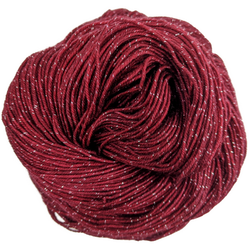 Knitcircus Yarns: Cranberry Sauce 100g Kettle-Dyed Semi-Solid skein, Sparkle, ready to ship yarn