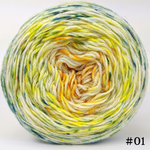 Knitcircus Yarns: Here Comes the Sun 100g Impressionist Gradient, Parasol, choose your cake, ready to ship yarn