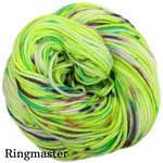 Knitcircus Yarns: High Voltage Speckled Handpaint Skeins, dyed to order yarn