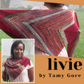 Livie Shawl Yarn Pack, pattern not included, ready to ship