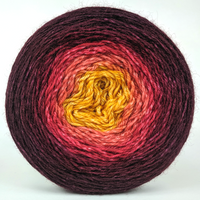 Knitcircus Yarns: Leaf Pile Leap 150g Panoramic Gradient, Breathtaking BFL, ready to ship yarn