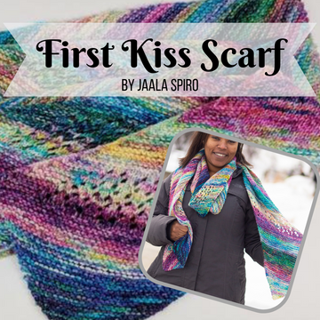 First Kiss Scarf Yarn Pack, pattern not included, dyed to order