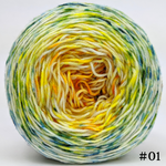 Knitcircus Yarns: Here Comes the Sun 100g Impressionist Gradient, Greatest of Ease, choose your cake, ready to ship yarn
