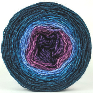 Knitcircus Yarns: Voyage of The Yarn Treader 100g Panoramic Gradient, Breathtaking BFL, ready to ship yarn - SALE