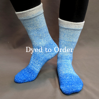 Knitcircus Yarns: Tangled Up in Blue Chromatic Gradient Matching Socks Set, dyed to order yarn