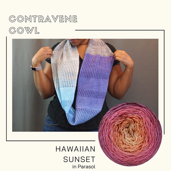Contravene Cowl Yarn Pack, pattern not included, dyed to order