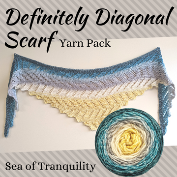Definitely Diagonal Scarf Yarn Pack, pattern not included, dyed to order