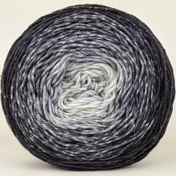 Knitcircus Yarns: Shades of Gray 100g Chromatic Gradient, Flying Trapeze, ready to ship yarn