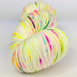 Knitcircus Yarns: Wild Child 100g Speckled Handpaint skein, Trampoline, ready to ship yarn