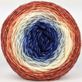 Knitcircus Yarns: Bad Moon on the Rise 100g Panoramic Gradient, Divine, ready to ship yarn