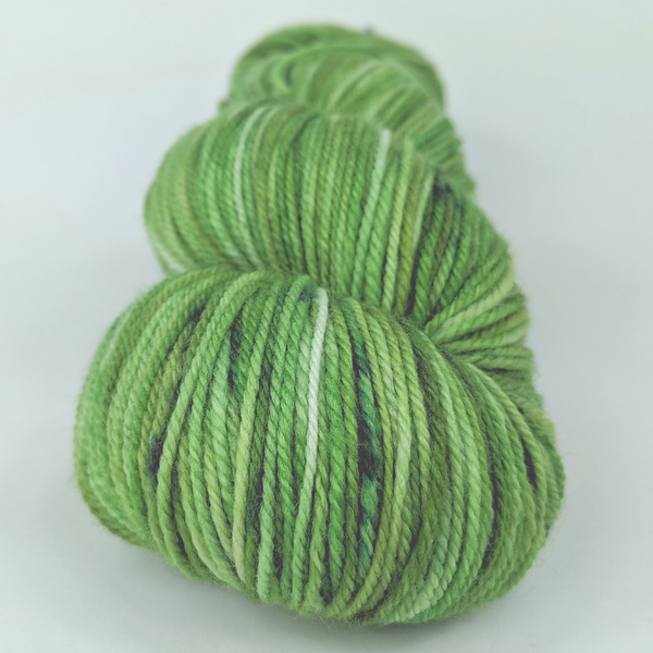 Knitcircus Yarns: Lucky Charm 100g Speckled Handpaint skein, Flying Trapeze, ready to ship yarn