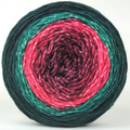 Knitcircus Yarns: Deck The Halls 100g Panoramic Gradient, Flying Trapeze, ready to ship yarn