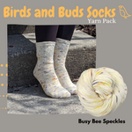 Birds and Buds Socks Yarn Pack, pattern not included, ready to ship