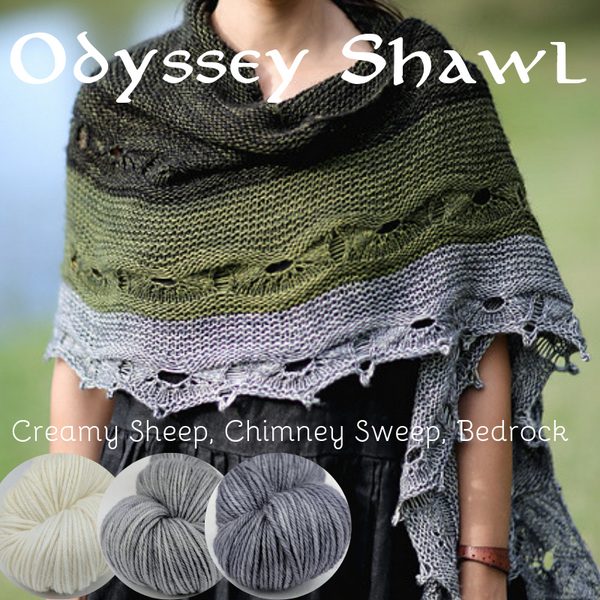 Odyssey Shawl Yarn Pack, pattern not included, ready to ship
