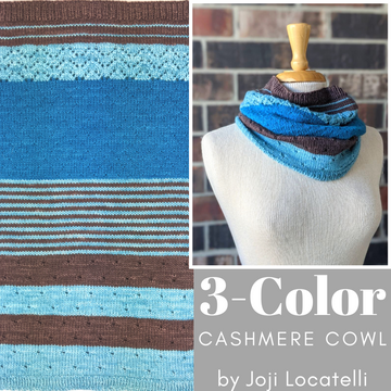 3 Color Cashmere Cowl Kit, dyed to order