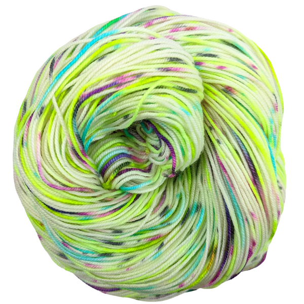 Knitcircus Yarns: High Voltage 100g Speckled Handpaint skein, Trampoline, ready to ship yarn