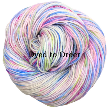 Knitcircus Yarns: Shabby Chic Speckled Handpaint Skein, dyed to order yarn