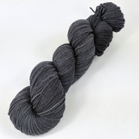 Knitcircus Yarns: Fade to Black 100g Kettle-Dyed Semi-Solid skein, Flying Trapeze, ready to ship yarn