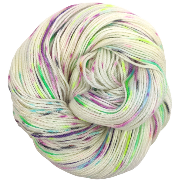 Knitcircus Yarns: Electric Mayhem 100g Speckled Handpaint skein, Opulence, ready to ship yarn