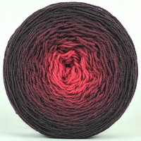 Knitcircus Yarns: Vampire Boyfriend 150g Chromatic Gradient, Flying Trapeze, ready to ship yarn