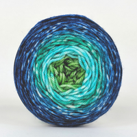 Knitcircus Yarns: Dive Right In 50g Panoramic Gradient, Greatest of Ease, ready to ship yarn