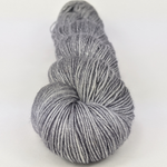 Knitcircus Yarns: Chimney Sweep 100g Kettle-Dyed Semi-Solid skein, Sparkle, ready to ship yarn