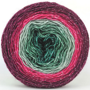 Knitcircus Yarns: Sleigh Ride 100g Panoramic Gradient, Sparkle, ready to ship yarn