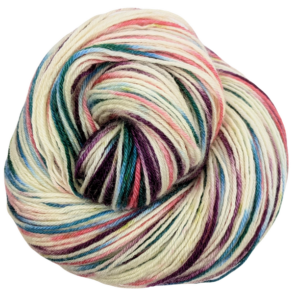 Knitcircus Yarns: Sugar Plum Fairy 100g Speckled Handpaint skein, Breathtaking BFL, ready to ship yarn