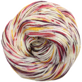 Knitcircus Yarns: Leaf Pile Leap 100g Speckled Handpaint skein, Spectacular, ready to ship yarn