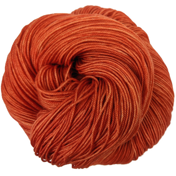 Knitcircus Yarns: Rhymes With Orange 100g Kettle-Dyed Semi-Solid skein, Trampoline, ready to ship yarn