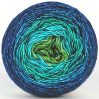 Knitcircus Yarns: Dive Right In 100g Panoramic Gradient, Trampoline, ready to ship yarn