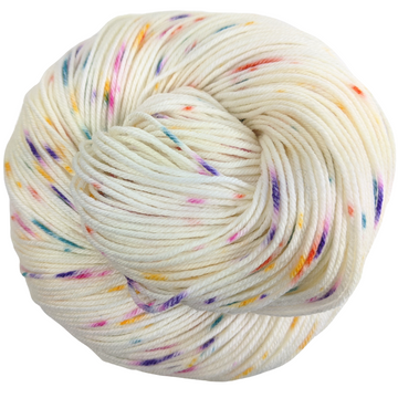 Knitcircus Yarns: Welcome to the Good Place 100g Speckled Handpaint skein, Greatest of Ease, ready to ship yarn