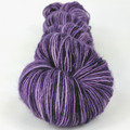 Knitcircus Yarns: Grape Stomping 100g Speckled Handpaint skein, Spectacular, ready to ship yarn