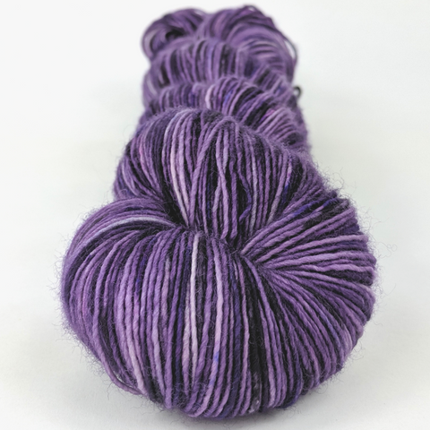 Grape Stomping 100g Speckled Handpaint skein, Spectacular, ready to ship