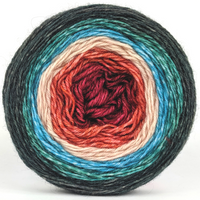 Knitcircus Yarns: Sagebrush Cowgirl 100g Panoramic Gradient, Breathtaking BFL, ready to ship yarn
