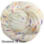 Knitcircus Yarns: Welcome to the Good Place Speckled Handpaint Skeins, dyed to order yarn