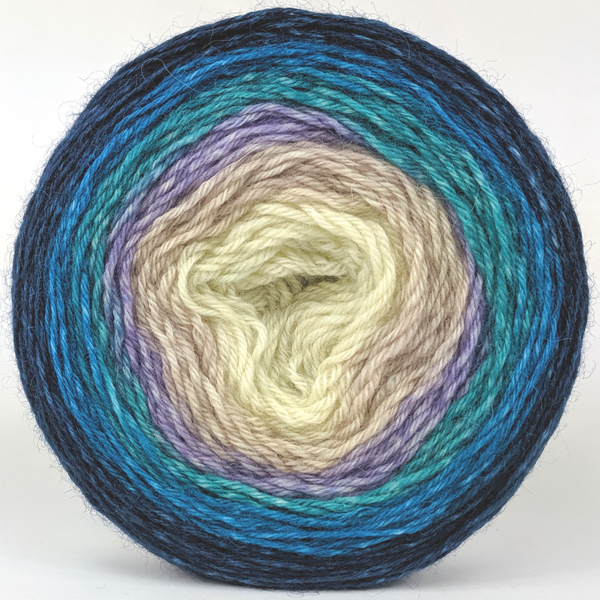 Knitcircus Yarns: Counting Sheep 100g Panoramic Gradient, Breathtaking BFL, ready to ship yarn