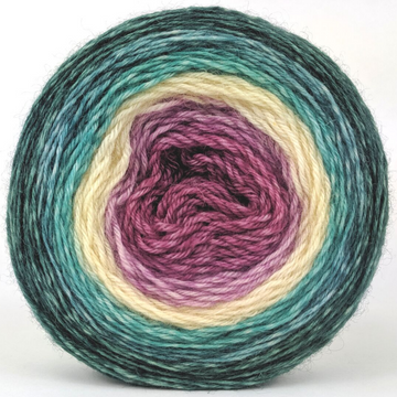 Knitcircus Yarns: Jingle Bells 100g Panoramic Gradient, Breathtaking BFL, ready to ship yarn