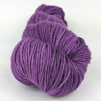 Knitcircus Yarns: Purple Palace 100g Kettle-Dyed Semi-Solid skein, Flying Trapeze, ready to ship yarn