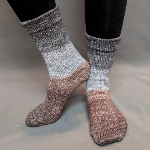 Knitcircus Yarns: Have Fun Storming the Castle Panoramic Gradient Matching Socks Set (large), Greatest of Ease, ready to ship yarn