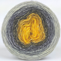 Knitcircus Yarns: Brass and Steam 100g Panoramic Gradient, Breathtaking BFL, ready to ship yarn