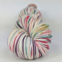 Knitcircus Yarns: Sugar Plum Fairy 100g Speckled Handpaint skein, Flying Trapeze, ready to ship yarn