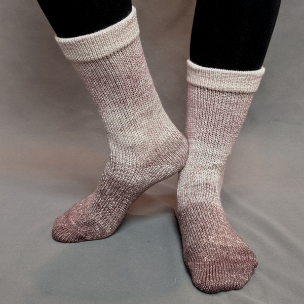 Knitcircus Yarns: Freshly Brewed Chromatic Gradient Matching Socks Set (large), Greatest of Ease, ready to ship yarn