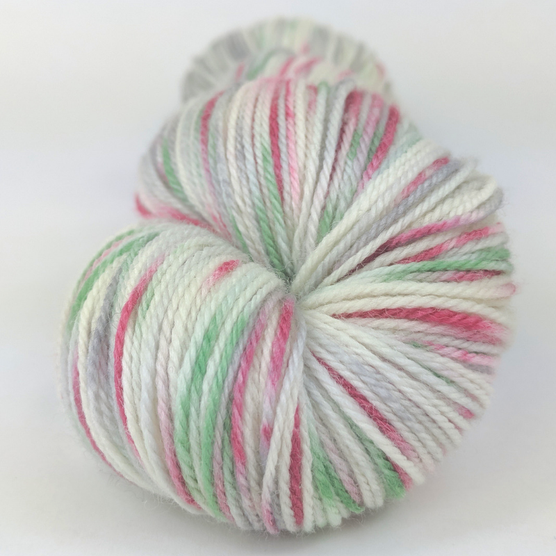 'Tis the Season 100g Speckled Handpaint skein, Flying Trapeze, ready to ship