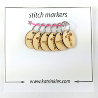 Knitcircus Strongwoman Logo Ring Markers, 6 pack, ready to ship