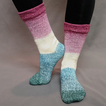 Knitcircus Yarns: Jingle Bells Panoramic Gradient Matching Socks Set (large), Greatest of Ease, ready to ship yarn