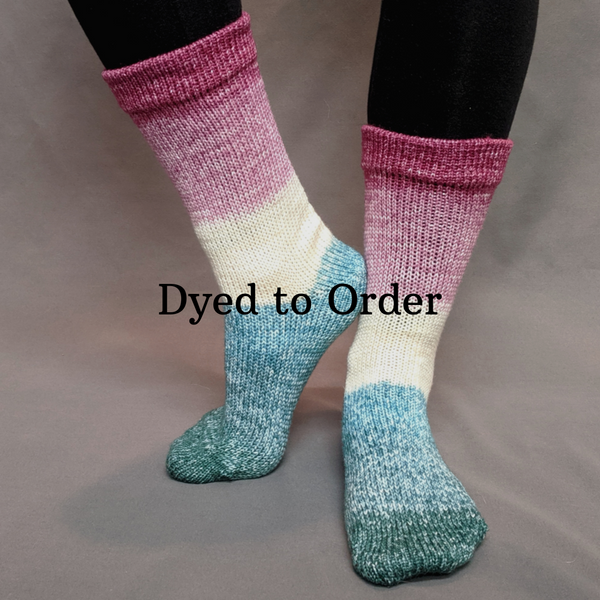Knitcircus Yarns: Jingle Bells Panoramic Gradient Matching Socks Set, dyed to order yarn